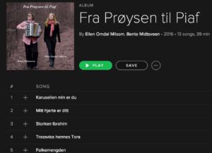 Plata er på Spotify!